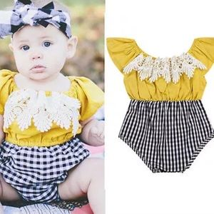 Other - Boutique Baby Girl Trendy Romper